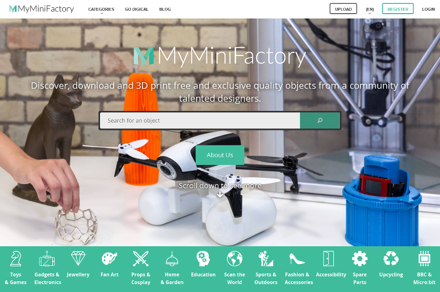 myminifactory guaranteed free and paid 3d printable designs