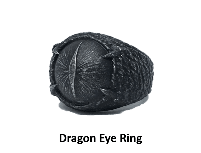 3D printable dragon eye ring