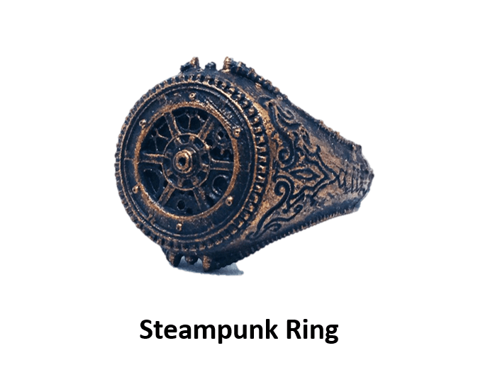 3D printable steampunk ring